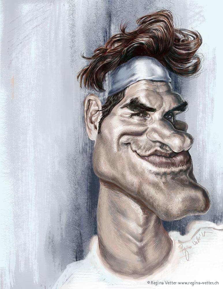 Federer Karikatur