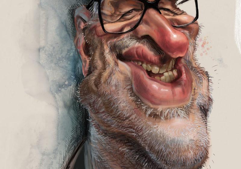 Portraitkarikatur Jan op de Beeck