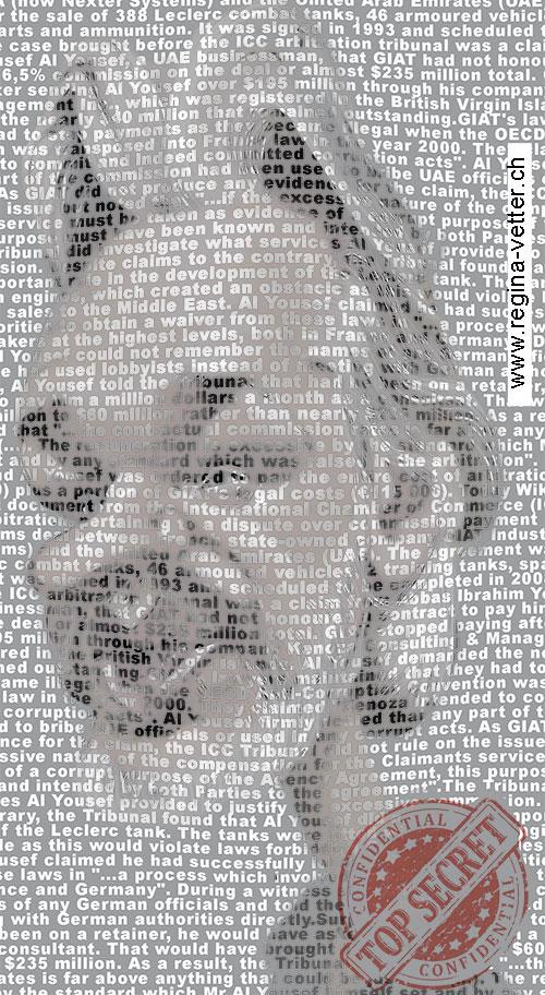 Karikatur des Aktivisten Julian Assange