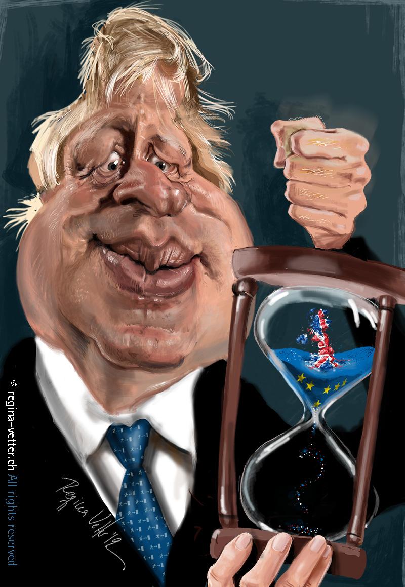 Karikatur des britischen Premierministers Boris Johnson
