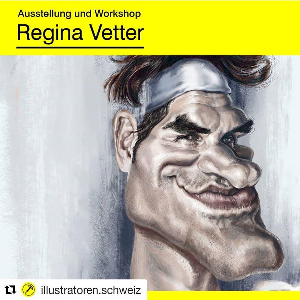 Ausstellung Karikaturen Regina Vetter