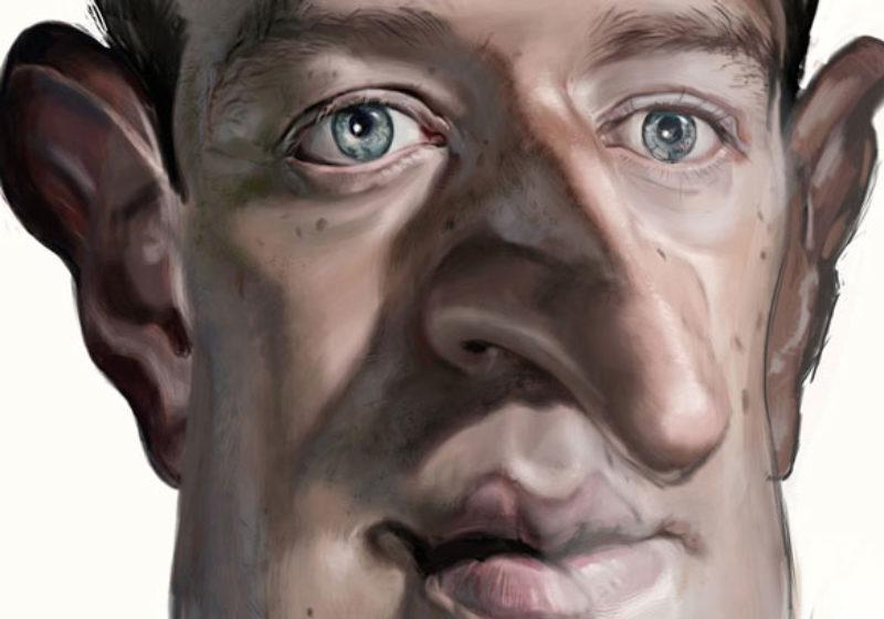 Caricature Mark Zuckerberg